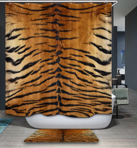Textures Tiger Print Shower Curtain