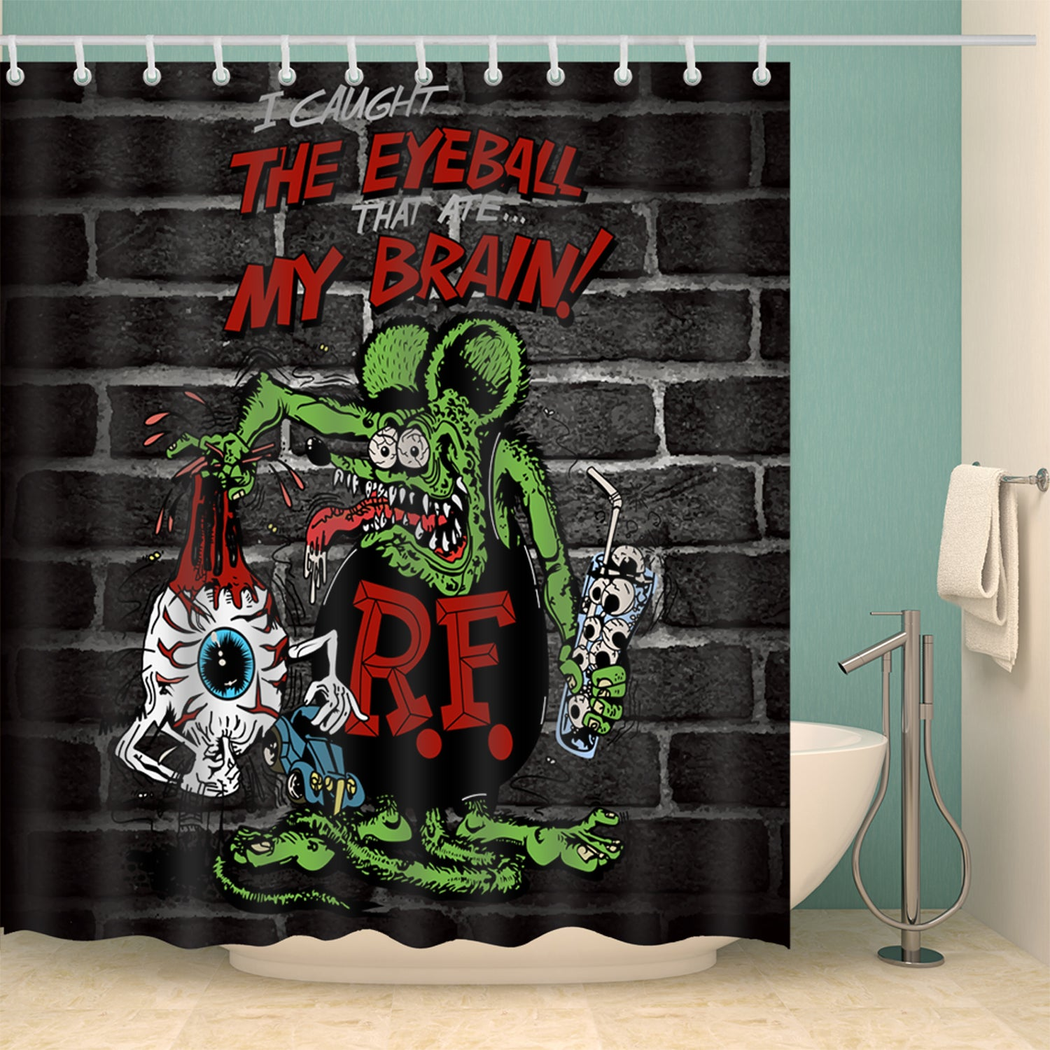 The Eyeball Mouse Mural Art Shower Curtain