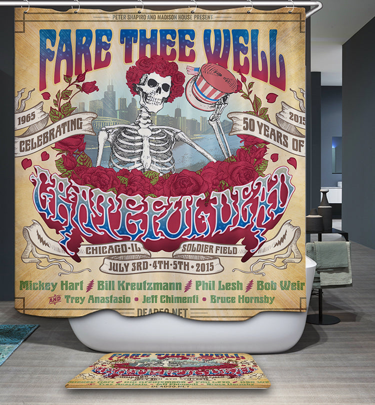 The Grateful Dead Fare Thee Well Shower Curtain