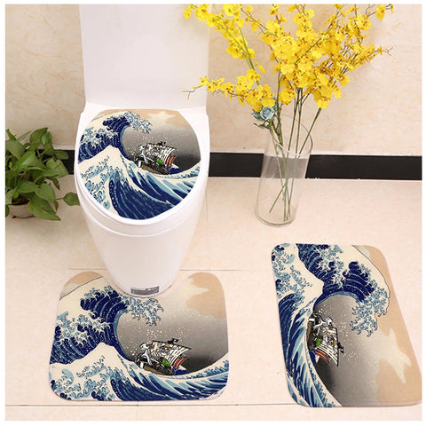 The Great Wave One Piece Toilet Seat Cover
