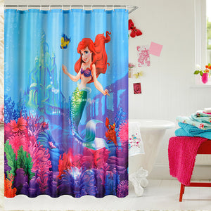 The Little Mermaid Ariel Shower Curtain | GoJeek