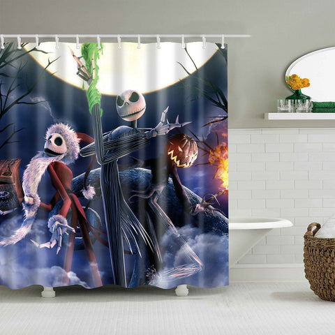 The Nightmare Before Christmas Pumpkin King Jack Skellington Shower Curtain