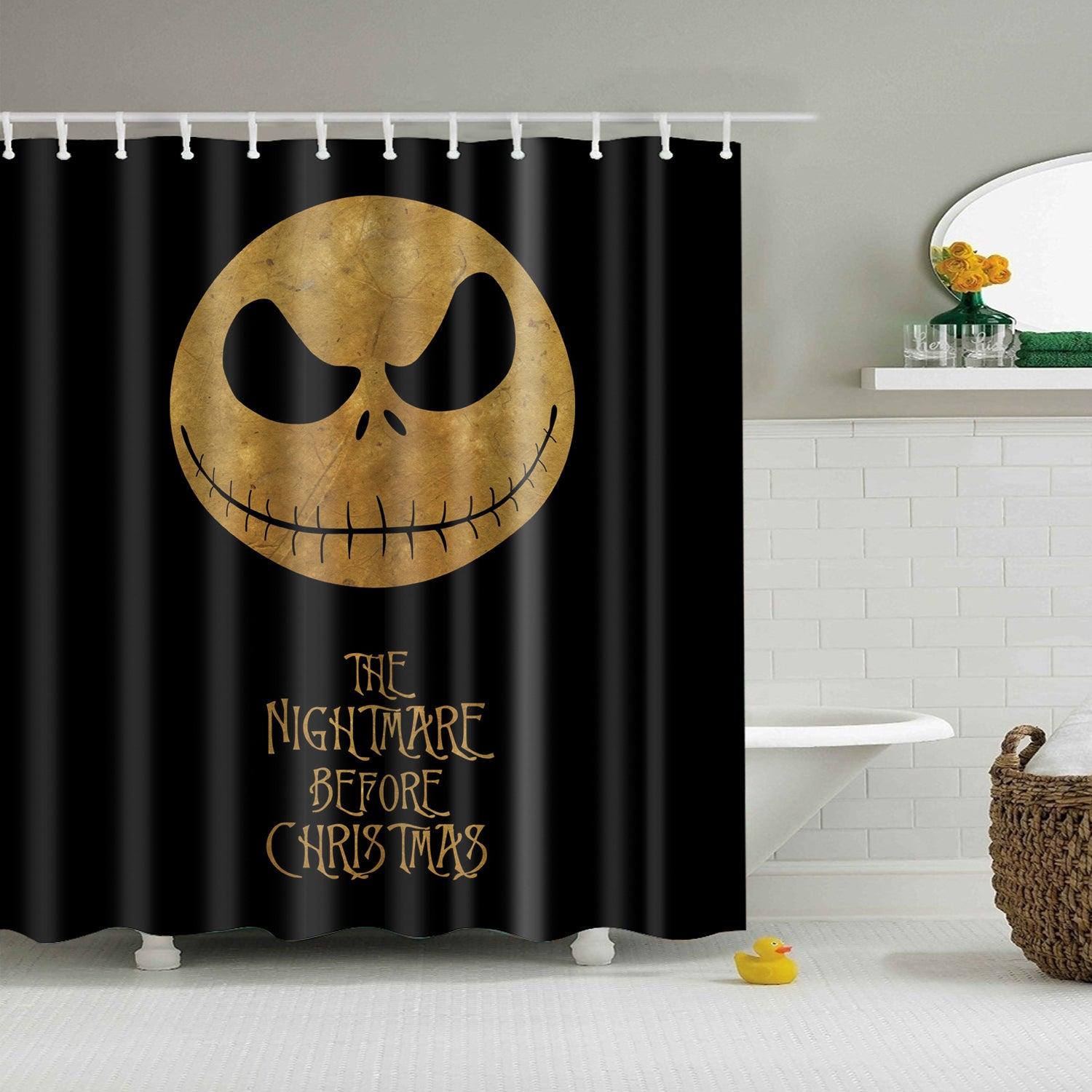 The Nightmare Before Christmas Shower Curtain | GoJeek