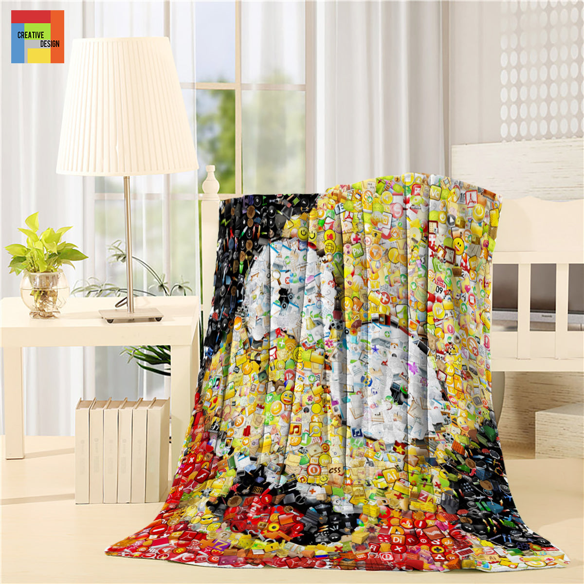 The Bart Simpsons Anime Print Throw Blanket