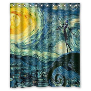 The Starry Night Nightmare Before Christmas Shower Curtain