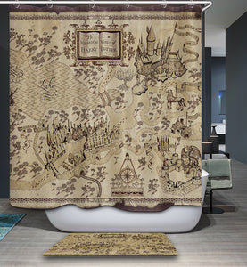 The Wizarding World of Harry Potter Maps Shower Curtain