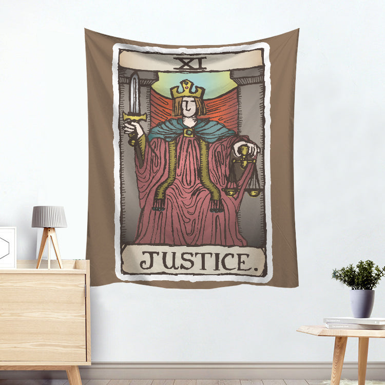 Themis Justice Colorful Divination Tarot Card Tapestry