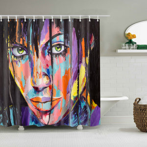 Tough Girl Eye Contemporary Art Shower Curtain