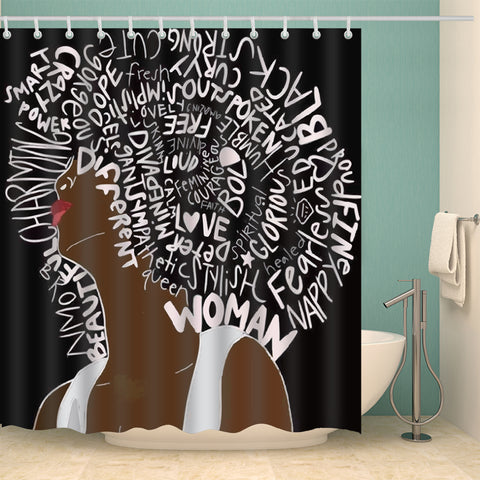Unapologetically Black Culture Power Girl Shower Curtain