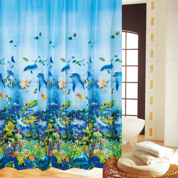 Undersea World Fish Corals Shower Curtain | Gojeek