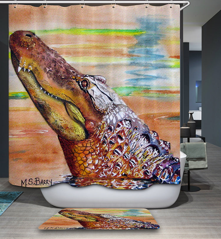 Unique Design Alligator Shower Curtain