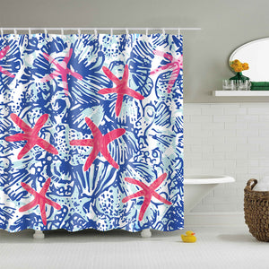 Unique Pink Starfish Painting Shower Curtain