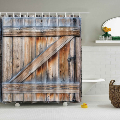 Unique Rustico Old Barn Doccia Curtain Country Bath Decor | GoJeek