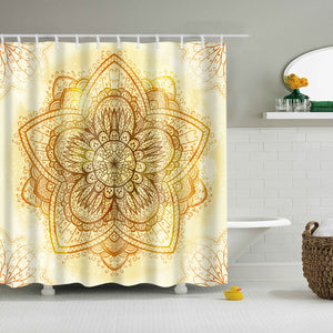 Universal Flower Mandala Shower Curtain