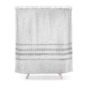 farmhouse grain sack shower curtains
