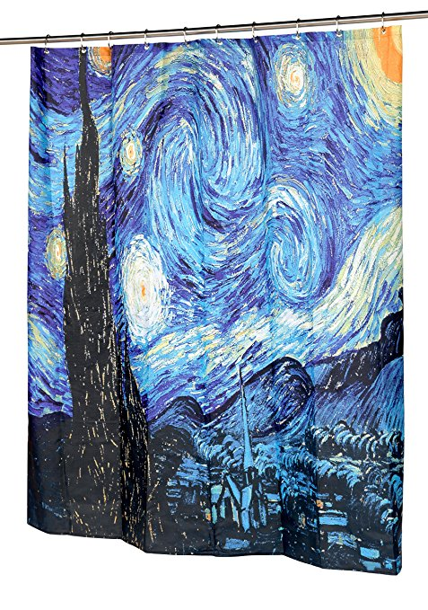 Van Gogh The Starry Night Shower Curtains Famous Paintings Curtain | GoJeek