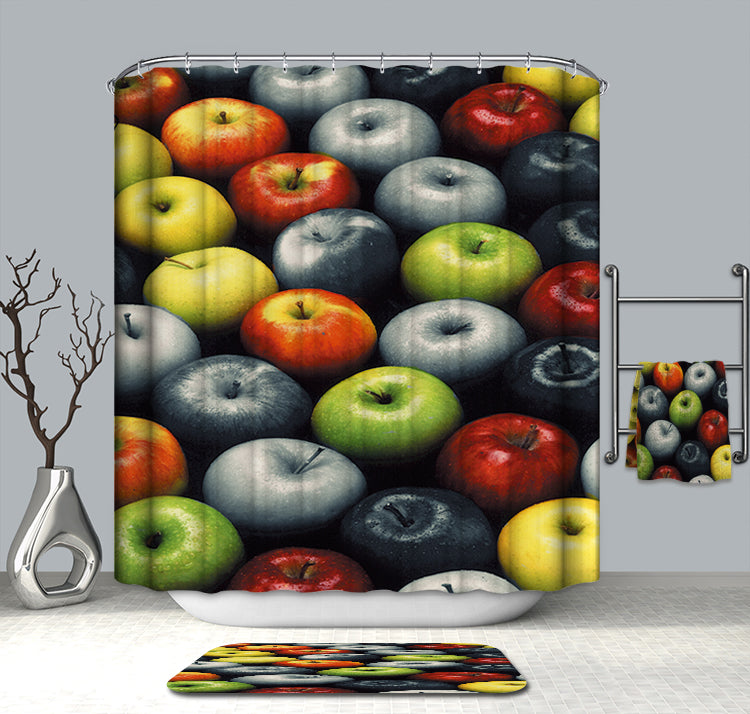 Various Colors of Apple Shower Curtain