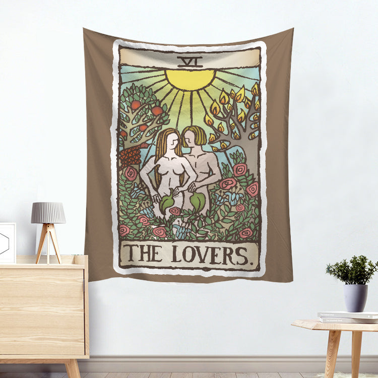 Venus The Lovers Colorful Divination Tarot Card Tapestry