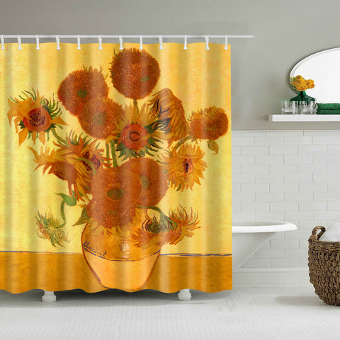 Vincent Van Gogh Fourteen Sunflowers In A Vase Shower Curtain