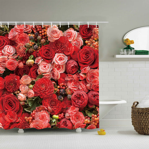 Vintage Cultivating Collage Colorful Rose Shower Curtain