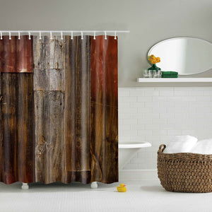 Vintage Old Wood Print Doorway Shower Curtain | GoJeek