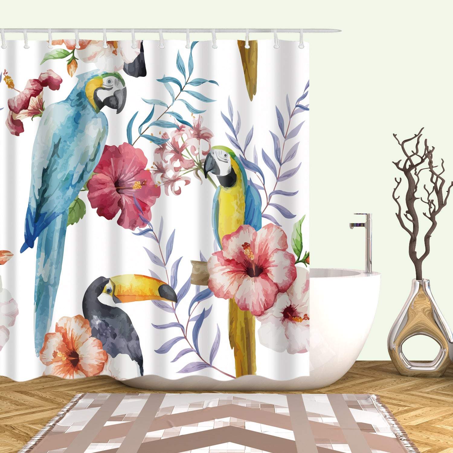 birds bird curtains shower curtain rowley lushdecor lush decor multi com products