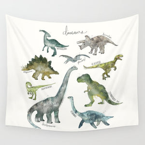 Watercolor Drawing Wiki Jurassic Period Dinosaur Tapestry