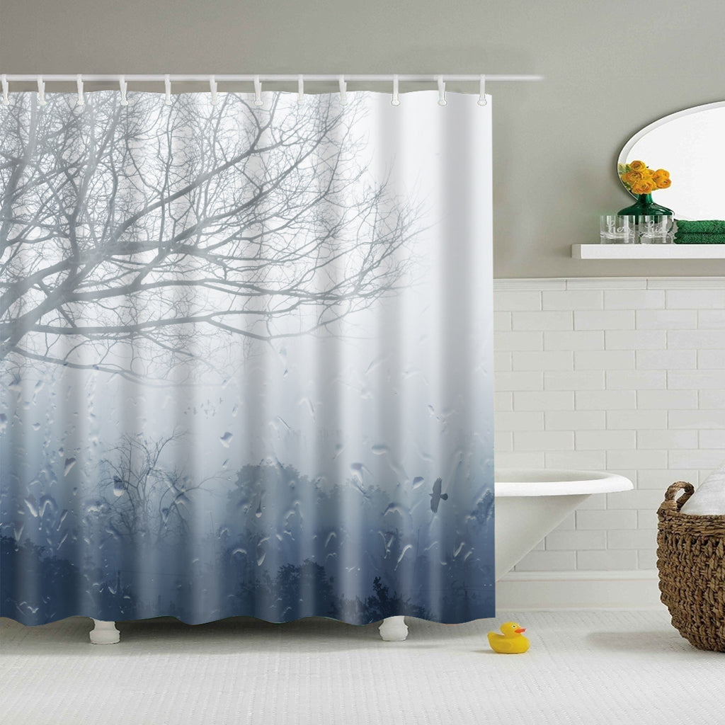 Weather Cloudy Day Rain Shower Curtain