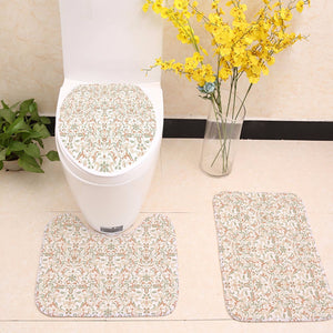 Wedding Flower Floral Pattern Toilet Seat Cover