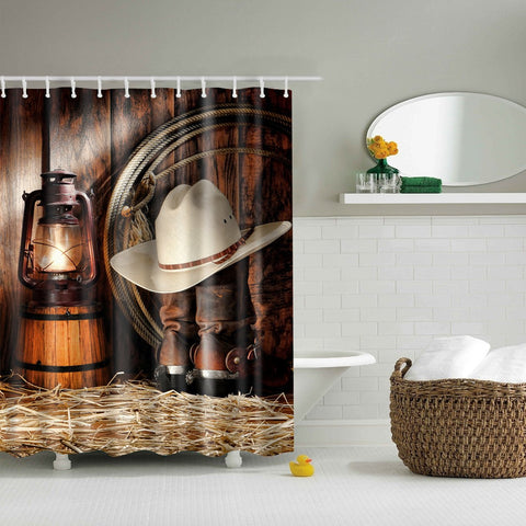 West Legand Western Cowboy Ranching Gear Shower Curtain | GoJeek