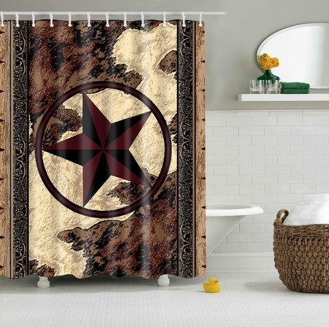 Western Texas Star Shower Curtain | GoJeek