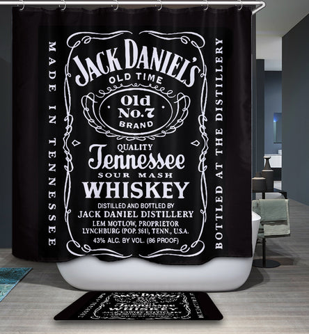 Whiskey Poster Jack Daniels shower curtain