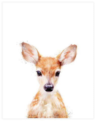 White Backdrop Baby Little Deer Tapestry