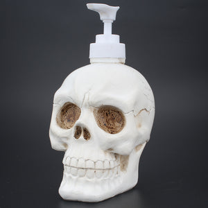 Halloween Holiday White Resin Liquid Skull Soap Dispenser