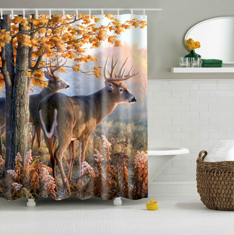 Whitetail Deer Shower Curtain | GoJeek