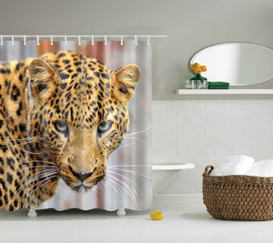 Wild Cheetah Leopard Print Shower Curtain | GoJeek