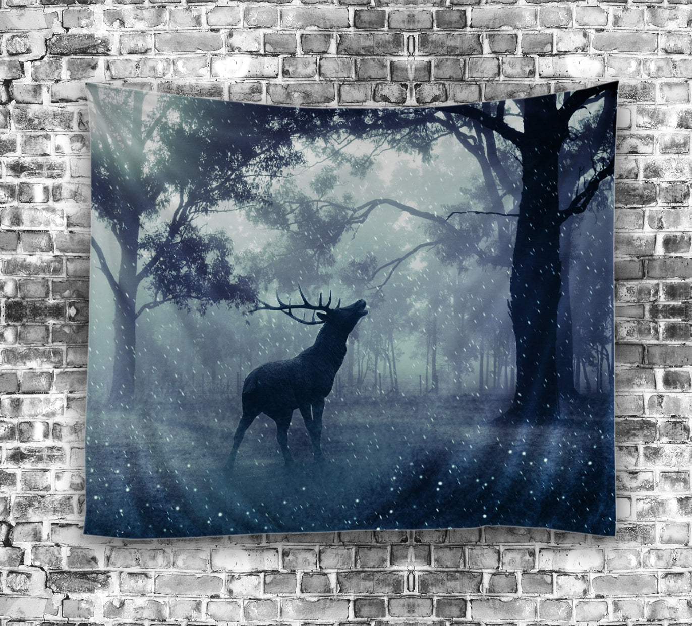 Wild Nature Forest Beautiful Deer Tapestry