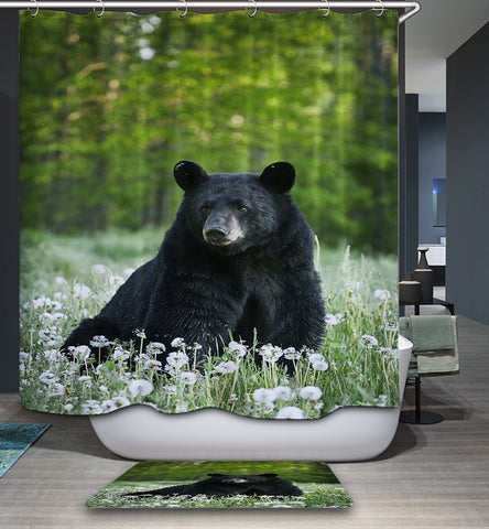 Curtain Black Bear Shower de Wildlife American
