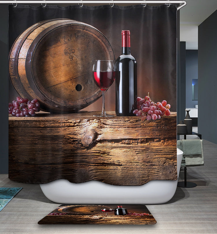 Wine Cellar Shower Curtain | GoJeek