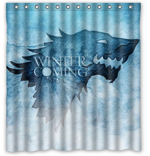 Winter is Coming Game of Thrones Shower Curtain