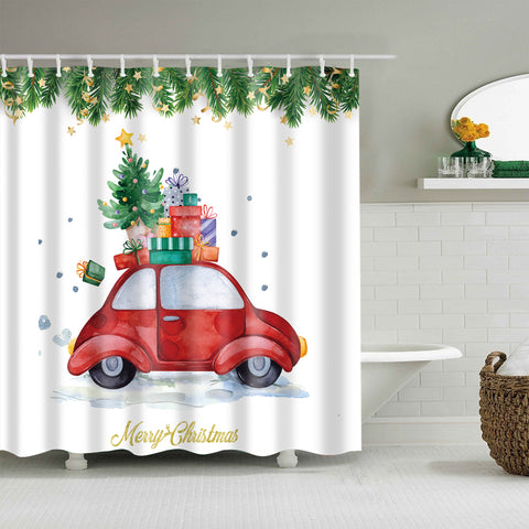 Xms Gift su Red Truck Shower Curtain