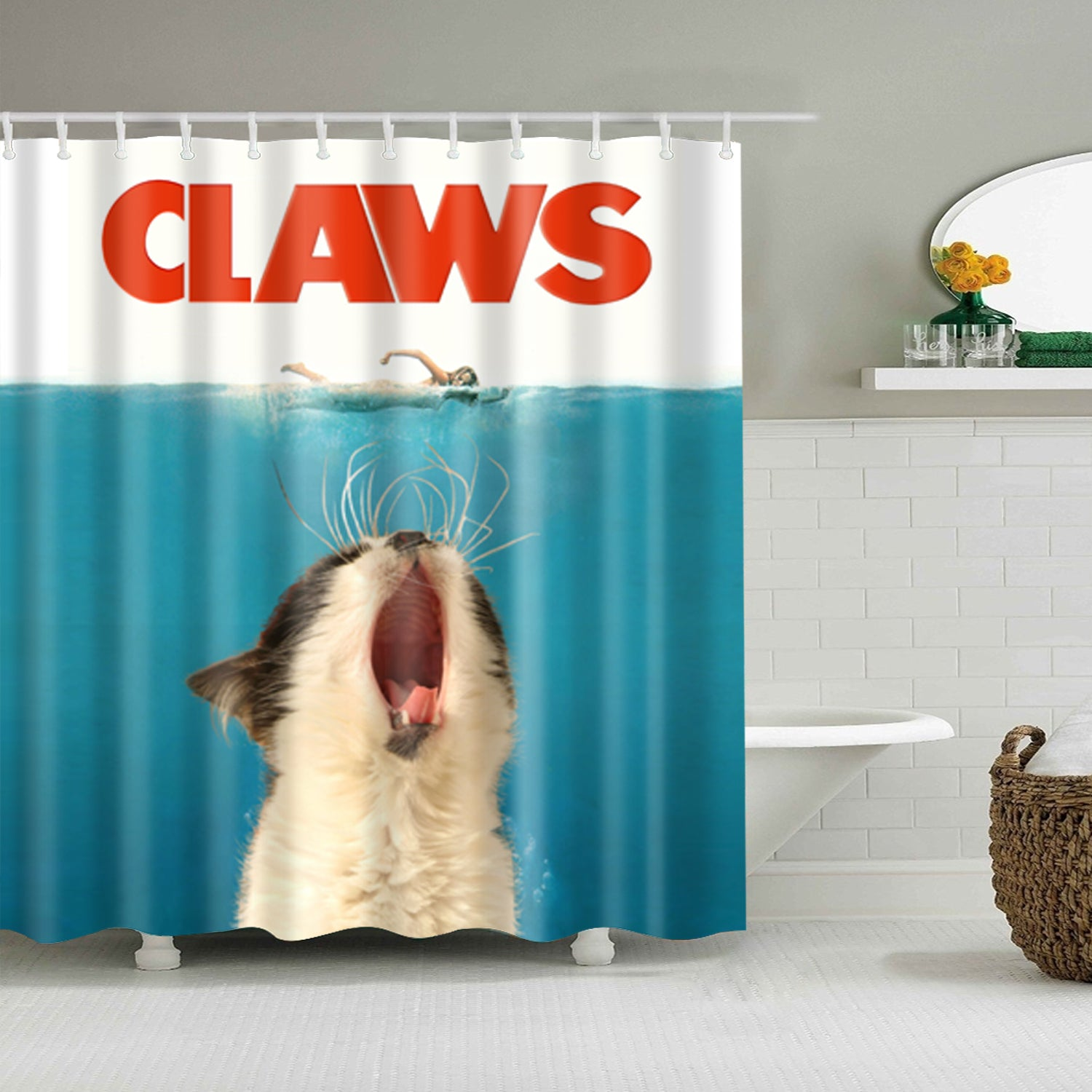 Yelling Kitten Claws Shower Curtain | GoJeek