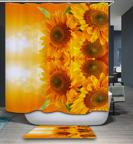 Yellow Sunflower Daisy Shower Curtain