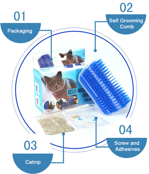 Wall Brush Cat Self Groomer instruction