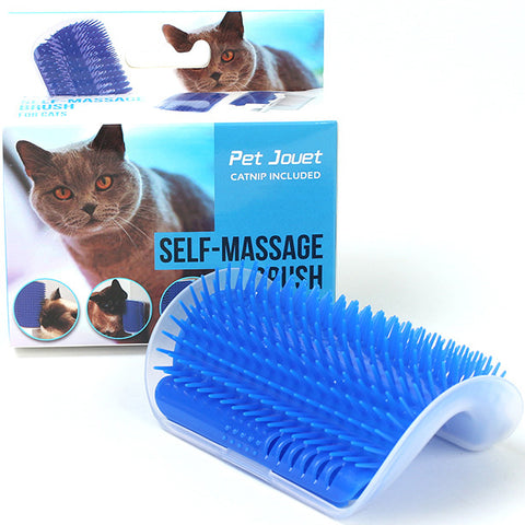 Cat Self Grooming Massage Wall Brush Corner Cat Scratcher