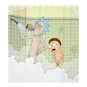 Rick and Morty Take a Shower Together Shower Curtain | Gojeek