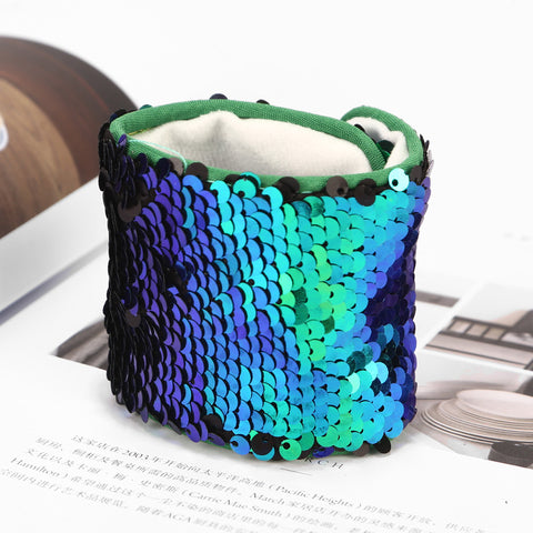 Gojeek turquoise to purple Mermaid Sequin Bracelet