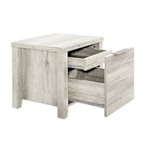 Alice Bedside table White Ash