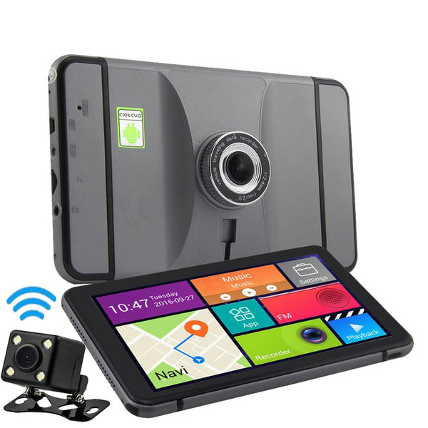 Wireless 3-in-1 GPS Dashcam & Reversing Camera with 7 inch Touch Screen & Bluetooth