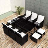 11-piece-outdoor-dining-set-with-cushions-poly-rattan-black-vxl-42523-bitpay-zip-coinbase